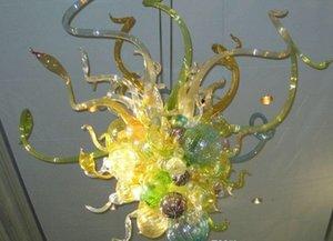Freies Verschiffen Rustic Design Sonnenblume Handgemachte geblasenem Glas Bubbles Beleuchtung Kronleuchter LED-Leuchten für Villa