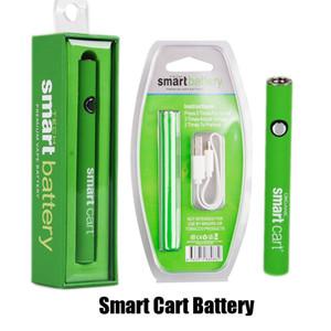 스마트 카트 예열 배터리 380mAh 가변 전압 VV 배터리 충전기 Vape 펜 키트 510 스레드 SmartCart 카트리지
