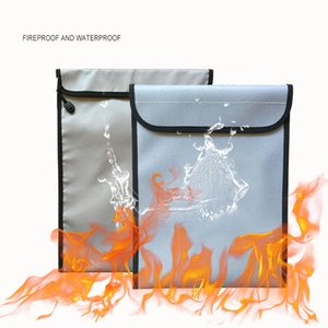 방화 문서 가방 파우치 비 가렵고 실리콘 돈을 위해 화재 방지 가방 내화 금고 저장 코팅, 문서, 보석