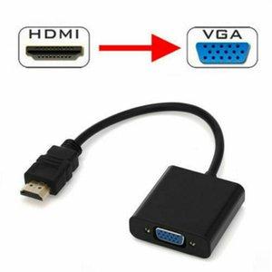 1080p HDMI Stecker auf VGA Buchse Video-Kabel Kabel Konverter-Adapter für PC DVD HDTV