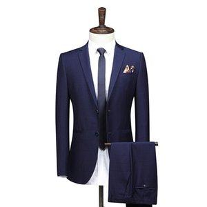 Large Size 8xl 7xl 6xl 2 Piece Suit High-end Black Suit Men Business Banquet Wedding Mens Suits Jacket (coat+pants+) Trousers