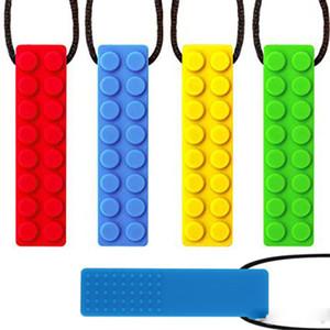 Chewies de silicona para el collar autismo dentición TDAH morder oral Motor Chewy palillo de juguete tubo de joyería de mascar para Adultos Niño Niña para niños