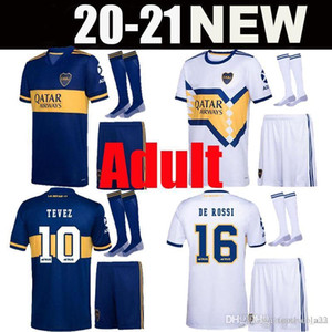 Взрослый Kit de Rossi 2020 2021 BOCA Юниоры футбол футбол Salvio 20 21 Camisa de futebol Tevez Benedetto Nandez Pavon Man Set Футбольные рубашки