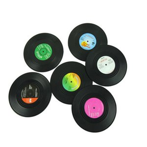 Copa Posavasos de Vinilo CD Record Mats retro taza de café Vajilla Mantel Gadgets decoración casera creativa 6pcs 1 porción Wholesale-WZW YW3272