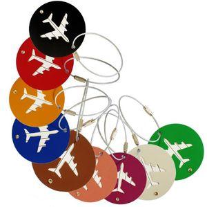 Новый 9 цветов Алюминиевый сплав Путешествия Камера Теги круговой плоскости путешествия чемодан Lable Airlines Круглый Багажный этикетки подарок