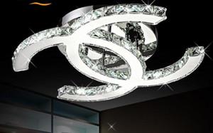 Modern LED Kristal Tavan Avize Işık Aydınlatma K9 Kristal Avizeler tavan lambası cilalar de cristal Oturma Odası Yatak Odası için MYY