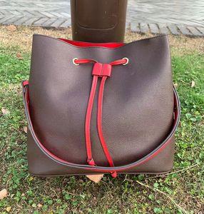 2019 bolsos de las mujeres bolsos de hombro NEONOE Noé mujeres del bolso cubo de cuero flor de la impresión del bolso del crossbody