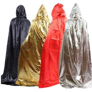 Cadılar Bayramı Siyah Ölüm Cloak Cadı Felsefe Cloak Süper uzun büyücünün parti kostüm