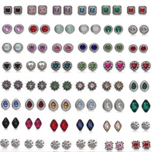 Mixed styles NOOSA Checks 12mm Crystal Snap Button Jewelle Snap Button Squear Squeb Squeeb Squeb Snap Button