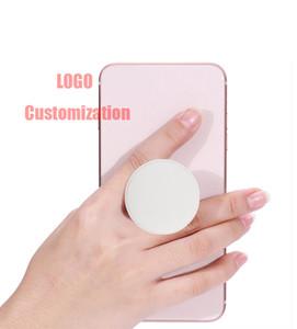 Plástico plegable del teléfono Holder soporte del teléfono y el agarre de la mano dedo células plegables titular Grip de montaje para iPhone Xs Max Samsung con OPP bolsa