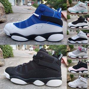 2019 6 VI Rings Six Alternate Men Zapatos de baloncesto Zapatillas de deporte para hombre 6s Zapatillas deportivas Azul Negro Basket Air Sneakers Zapatillas Tamaño 36-47