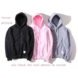 Nueva Moda con capucha Hombres Mujeres camiseta de deporte de Asia tamaño S-XXL 5 colores mezcla de algodón grueso suéter con capucha de manga larga Streetwear