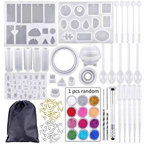 DIY jóias Epoxy resina jóias moldes Suit Pulseiras Brincos Colares Anéis Epoxy resina nº 83 peças