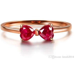 Hotstone88 100% 925 silversterling silver ring 18kGP rose gold Eternal Love wedding ring