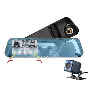 """4.3 """"풀 HD 1080P 자동차 DVR 카메라 차량 registrator 미러 차 대하 140 ° 시야각 G 센서 주차 모니터 데이터를 기록 미러 구동"""