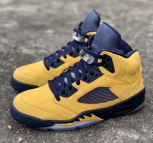 новые 5s baksetball обуви для мужчин 5 кроссовок SP Michigan Jumpman Inspire 3M статического Tongue нас размером 7-13
