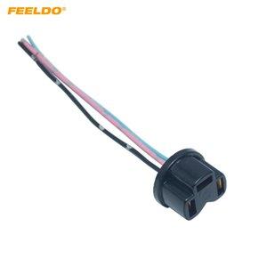 FEELDOAuto 1Pair H4 галогенных туман ксеноновых светодиодной Plug адаптер автомобили Электропроводка Удлинитель H4 Light # Разъем сокет с MX5956