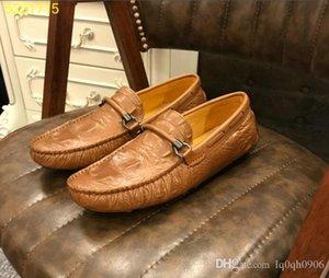 Top selling Mens leisure leather flattie shoe crocodile skin italian walk shoes loafers Mocassin 38-44