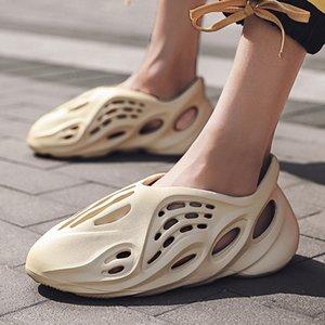 Yeni Geliş Nefes Takunyalar Moda Croc Plaj Köpük Runner Artı boyutu 35-46 Unisex Soğuk Yaz Sandalet Erkek Delik Ayakkabı On Kayma