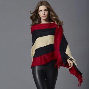 traje de las n coreano comodín Europa franja borla cuello redondo dama capa larga capa de diseño de tamaño más informal estilo suelto