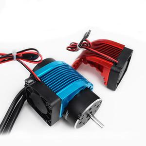 RC Alumbre De aleación de Motor Disipador de Calor CNC 4010 40 * 40mm Fan Motor sin escobillas para 42mm Hobbywing leopardo 4274 Castillo 1515
