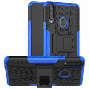 Para Samsung Galaxy A20S A30S A50s A70s A10 A90 M10 M30S dura de la caja suave de la piel de la armadura híbrido soporte de la cubierta del teléfono del silicio