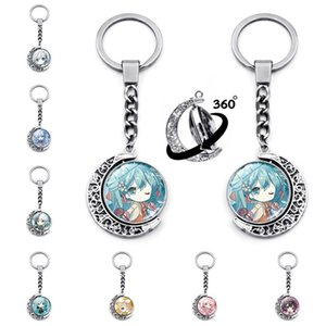 Chain for Pants Keychain Man Hatsune Miku Key Chain Bags Women Key Holder Couples Keyring Party Luo Tianyi Pendant Porte Clef
