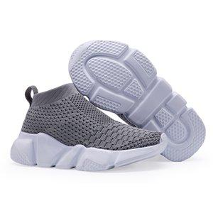 Ulknn الأطفال أحذية للبنات بنين حذاء الأولاد حذاء جورب حذاء تنفس شبكة الانزلاق على تشغيل الرياضة الأحذية اللباس Y190523