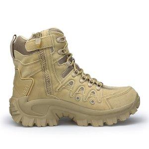 Military Boots Army Men Botas Mens coturno Militares scarpe invernali di combattimento Scarpe in pelle uomo Causale tattico caviglia Bot Stivali da cowboy