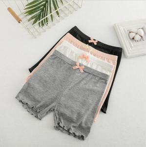 Mädchen-Gamaschen Cotton Ruffle Sicherheits-Hosen Sommer-Fashion Short Tights Kinder Modal Elastic Soft-Shorts Kinder-Boutique Kleidung AYP555