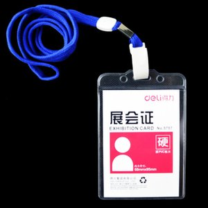 Clair Pratique Transparent PVC Badge Travail Exposition ID Nom Titulaires de la Carte Imperméable Personnel Cartes Livraison Gratuite