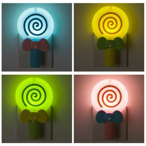 Lollipop Shape Intelligent Light Control Night Light US Regulation 100-240V