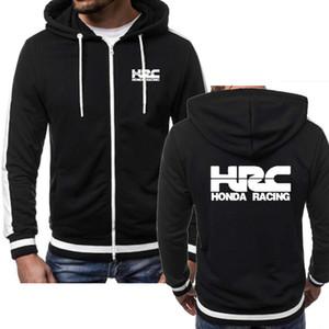 Мужчины куртка КПЧ гонки мотоцикл автомобилей Логотип печать Hip Hop Повседневного Harajuku с длинным рукавом Мужских молниями Толстовки фуфайки Man Hoody