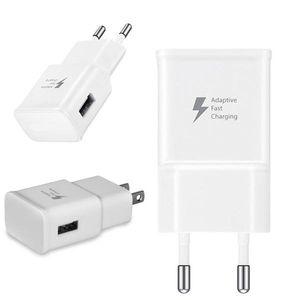 DHL FedEx Free 5V 2A EU US plug Adaptive Fast Charging Travel Wall Charger For Samsung Galaxy S6 Edge Plus Note 4 5
