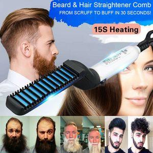 Cabelo Multifuncional Pente Curling Curling Show Cap Quick Hair Styler para homens Cabelo de aquecimento elétrico pente de cabelo rápido