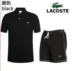 Verão 2020 roupa nova de homens sportswear.A homem constituído por um curto - camisa de mangas compridas e calças com um colar