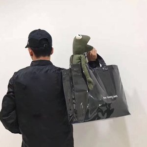 Coppie vendite calde nero Kraft PVC Shopping Bag DONNA UOMO Marea modo di alta qualità Hip Hop Hip Hop Designers Shoulder Bag TSYSBB054