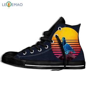 Imagen personalizada impresión zapatillas de deporte de la paloma Kevin El estilo de la llegada niños / niñas zapatos de lona Lighweight Ruta calzados personalizados