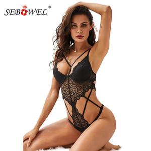 SEBOWEL 2019 Femme de poussée Noir Up Body en dentelle Lingerie Sexy évider corps Hauts pour femmes Vêtements Femme avec lingeries Coupes Y200107