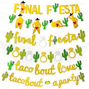 Single Girls Party Banner Kaktus Finale Fiesta Buchstaben Bling Banner Fit Frauen Thema Parteien Dekoration 8 Stile 7 5yw E1
