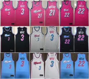NCAA Dwyane Wade 3 Mens ragazzi del college Basketball Maglie Jimmy Butler 22 Hot 2020 nuovo nbared maglie nero bianco