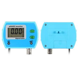 Freeshipping 2 in 1 Ph Meter Ec Meter für Aquarium-Multi-Parameter der Wasserqualität-Monitor Online Ph / Ec-Monitor Acidometer US-Stecker
