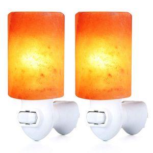 Sal Lâmpada Night Light decorativa Natural Cristal Sal Himalaias Luz purificador de ar Lâmpada de parede do cilindro Luz Nursery Lamp LED Cilindro