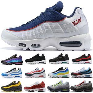 Nike Air Max 95 Airmax 95s Nouveau Ultra 95 OG Blanc Noir Gris Neon Volt Anniversaire Chaussures De Course Hommes Formateurs Tennis De Luxe Designer Hommes Sneakers Taille 40-46