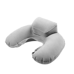 Gonflable U Neck Pillow Coussin Soft Air Têtière Compact Avion Vol Voyage 4 couleurs RRA2393