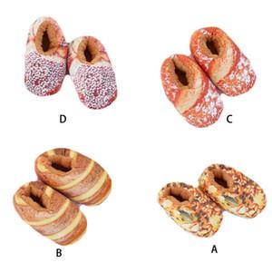 Моделирование Bacon Хлеб Обувь Женщины Личность Зима Антискользящая Хлопок тапочки LX9F