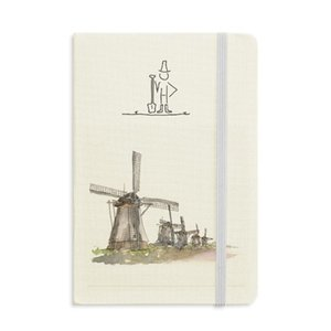 Mulino a vento in Holand Farmer Notebook Classic Journal Diary A5