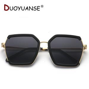 DUOYUANSE NEW 2019 Model Polarized Sunglasses Woman Metal Frame Drive Sun Glasses 3774 Star Style Fashion UV400 Glasses
