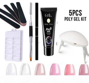 5 Pcs Polygel nail Kits UV Gel Nail Polish Hard Builder Extension Gel Fast Building for Manicure Tools acrylic Nail Art Kit