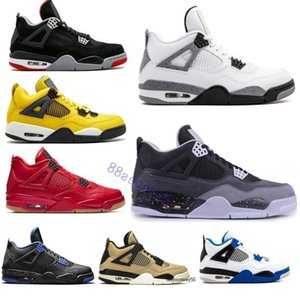 4 20 IV cool Bred 4s gris 36-47 Hommes Chaussures de basket champignons Encore Qu'est-ce TheEB9R